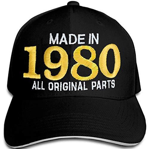 Bestickter Hut zum 40-jährigen Geburtstag Made in 1980 All original Parts