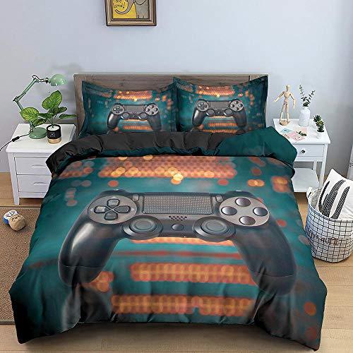 Bedclothes-Blanket Funda nórdica Funda de Colcha,Conjunto de Tres Piezas de impresión 3D de Kit de Ropa de Cama Almohada-5_264 * 228cm