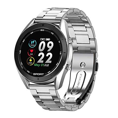 ZHENAO Smart Watch, Pulsera de Monitoreo de Salud Impermeable Ip68, Pedómetro de Ejercicio Monitoreo Del Sueño, Inforión de la Persona Que Llama Push Multifunción de Pulsera Táctil