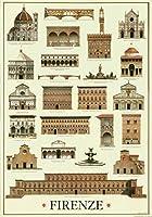 I.F.I ポスター/ラッピングペーパー 50×70 フィレンツェの建築 ARCHITETTURA FIRENZE CR056