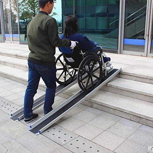 JLXJ Rampas Escalera Rampa Telescópica para Silla de Ruedas con Umbral, 120cm/183cm de Largo, Rampas Portátiles de Aluminio para Maletas Ligeras, para Casa Paso, Coche (Size : 120cm(4ft))