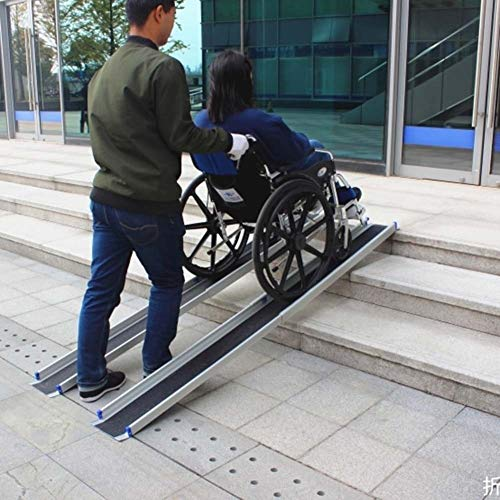 JLXJ Rampe Treppe Rollstuhlrampe mit Teleskopschwelle, 120cm/183cm Lang, Tragbares Aluminium Leichte Kofferrampen, für zu Hause Schritt, Auto (Size : 120cm(4ft))