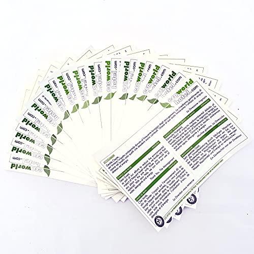 Adesivi Lavaggio Asciugamani EcoWorldHotel, specifici per Hotel e B&B - sfondo trasparente - 15 PZ -