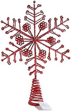 Gisela Graham - Grande étoile de Noël en fil métallique rouge (34cm)