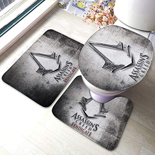 Assassins Cre_ed Suite - Juego de alfombrillas antideslizantes para baño (3 piezas, 40 x 60 cm)