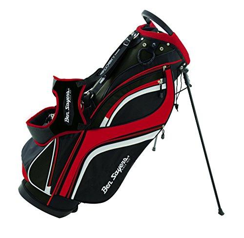 Ben Sayers DLX Accessoires Sacs et Chariots Golf Adulte Unisexe, Noir Rouge, 8.5-Pouces
