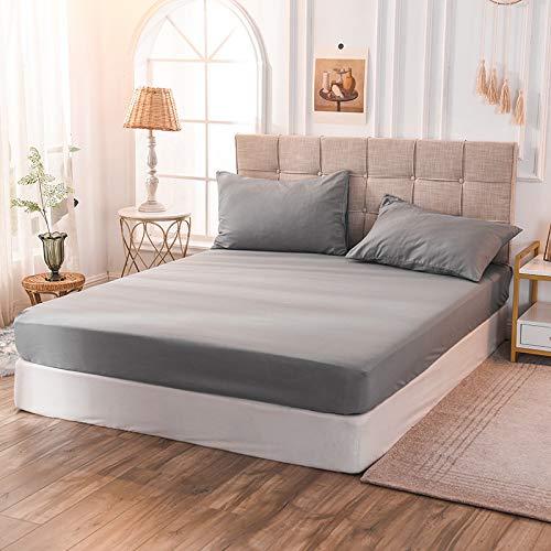 haiba Juego de sábanas – Fácil cuidado suave de microfibra cepillada – Sábana encimera, sábana bajera ajustable – resistente a la decoloración y encogimiento 160 x 200 x 30 cm
