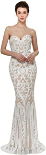 Women's Sexy Sequins Trumpet Mermaid Dresses Sleeveless Bridesmaid Dress Evening Dress Long Party Prom Gown