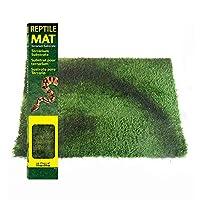 爬虫類テラリウム寝具基材ライナー柔らかい芝生造園装飾マット水陸両用亀トカゲ保湿カーペット (S)