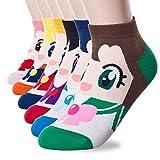 Calcetines Happytree para mujer – Divertidos gatos perros con dibujos animados de animales, ideales para regalo, talla única (Sailor Moon 3-6 pares)