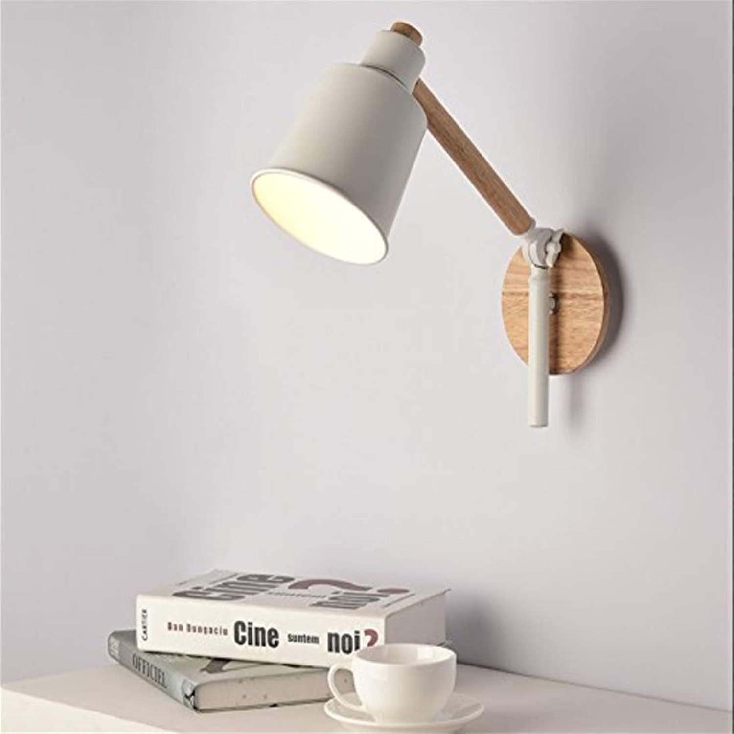 Lightwall Sconce Wall Lights Nordic Wall Lamp Modern Simple Creative Bedroom Bedside Balcony Aisle Led Solid Wood Quality Metal Long Arm Wall Lights [Energy Class A++]