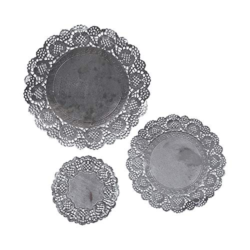 Assorted Sizes Silver Paper Doilies - Crafts for Kids and Fun Home Activities