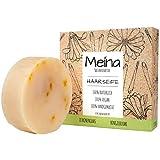 Meina - Bio Haarseife Naturkosmetik, Vegan Shampoo Bar mit Zitronengras & Ringelblume, festes...