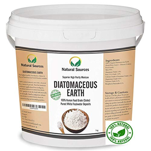 Superior Diatomaceous Earth Food Grade 1kg -Superior Food Grade UK by Natural Sources Full Ebook! Pure Fresh Water Sourced DE Powder Food Grade! Use for Health, Pets, Pest Control, for Chickens