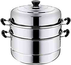 MSWL Steamer, 2 Layers, 3 Layers, 4 Layers, Stainless Steel Steamer, Extra Thick Thick, Induction Cooker Universal Pot Coo...