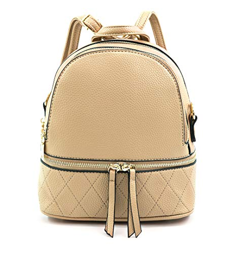 """Perfect size - 8"""" (L) x 4.7""""(W) x 9.25""""(H), weight 1.5 lb. Stylish - Crafted from pebbel leather with gold-tone hardware zipper closure. Comes with a 13 - 23 inch drop adjustable and detachable strap, that can be convertible to carry as backpack or c..."""