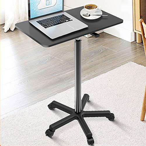 tavolino da caffè Scrivania Portatile alzabile per Laptop con Ruote, tavolino da caffè tavolino da caffè, per Soggiorno, Camera da Letto, tavolino da Studio, 60 x 39 x 110,5 cm