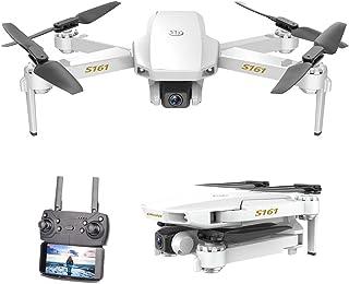 GoolRC CSJ S161 Mini Drone Pro con Cámara 4K Posicionamiento de Flujo óptico Cámara Dual Altitud Hold Gesto Fotos Video 3D FILP RC Quadcopter(Posicionamiento de Flujo óptico & 1 Batería)