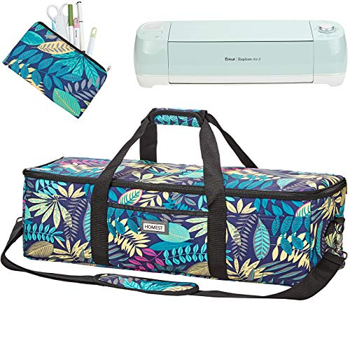 HOMEST Lightweight Carrying Case Compatible with Cricut Explore Air 2, Cricut Maker, Cricut Explore Air, Floral (Patent Design)