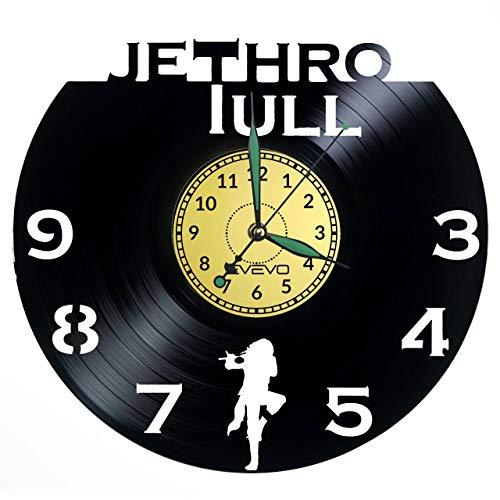 Reloj de pared Jethro Tull de vinilo con disco de vinilo, reloj retro, grande, decoración para el hogar, gran regalo para amigos, San Valentín, vinilo, decoración para el hogar, pared inspiradora