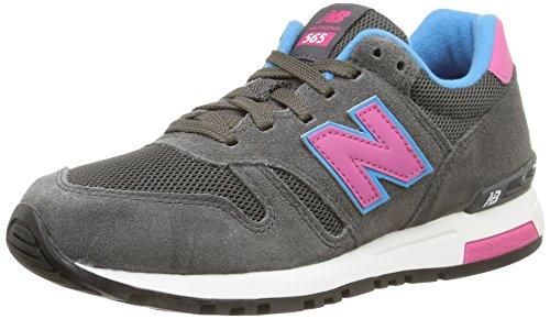 New Balance 565 Sneakers, Zapatillas Mujer, Gris (Grey/Pink/Blue), 37.5 EU