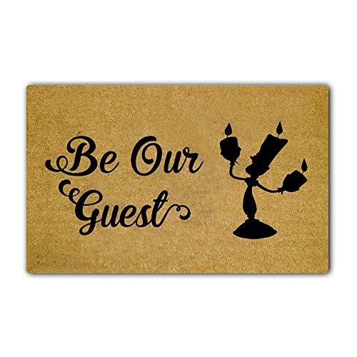 Eureya Be Our Guest Felpudo interior/exterior para puerta de cocina, alfombra de goma, 45 x 75 cm