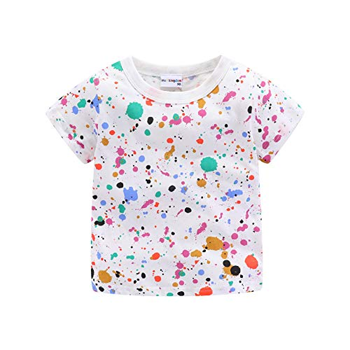 Mud Kingdom Toddler Boys T-Shirts Colorful Cute Summer 2T