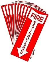 Fire Extinguisher Stickers, 4.25