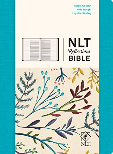 NLT Reflections Bible (Hardcover Cloth, Ocean Blue): The Bible for Journaling