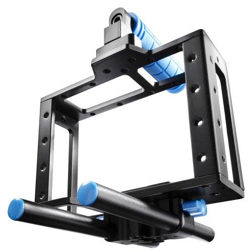 Walimex 18611 - Trípode (Digitales/cámaras de película, Negro, Azul, 1/4', 3/8', Aluminio, 630 g, 194 x 80 x 164 mm)