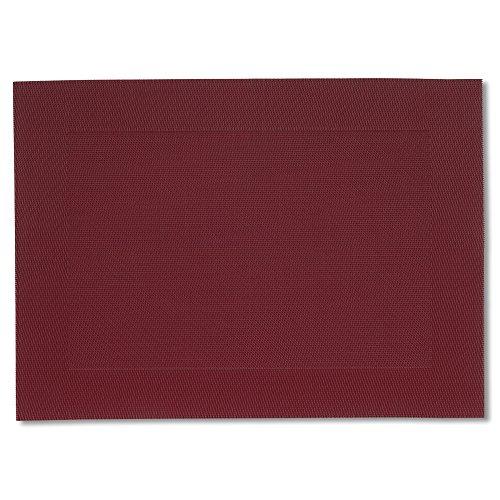 kela (6 x 12043 Sets de Table Nicoletta 6 TLG-3 Pièces, PVC, Rouge, 45 x 33 x 1,5 cm