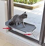 LSAIFATER Hamaca de Ventana para Gatos 360 ° y Soporte Inferior de Seguridad de Hierro Perca de ventana para Gato, Asiento de Ventana para Gato Hamaca para Cualquier Gato
