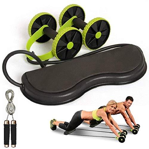 Rueda de rodillo, rueda de abdominales y cuerda de saltar equipo de...