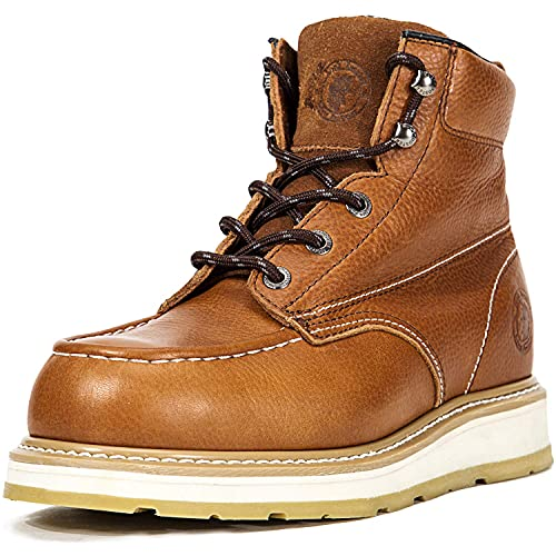 ROCKROOSTER Wedge Work Boots for Men, 6' Composite Toe Water Resistant Industrial & Construction Boots, Comfortable Anti Fatigue Poron Insole, Safety work boots (AP828)-12
