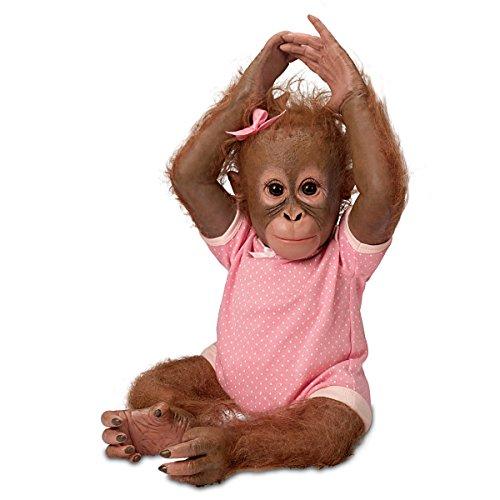 The Ashton-Drake Galleries 22' Ashton-Drake's First Hugging Monkey Doll by Ina Volprich: Annabelle's Hugs