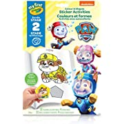 Crayola 80-6806 My First Colour and Shapes Sticker Activities, Paw Patrol, for Toddlers, for Girls and Boys, Gift for Boys and Girls, Kids, Ages 3, 4, 5,6 and Up, Summer Travel, Cottage, Camping, on-the-go,  Arts and Crafts,  Gifting