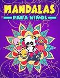 Mandalas para niños: Un bonito libro de colorear para principiantes con ilustraciones de animales que invitan a reducir el estrés, practicar el mindfulness y relajarse (de 3 a 10 años)