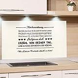 GRAZDesign Küchenrückwand Glas-Bild Spritzschutz Herd Edler Kunstdruck hinter Glas Bild-Motiv Küchenordnung Regeln für Küche / 60x60cm