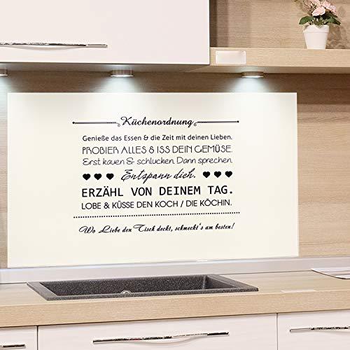 GRAZDesign Küchenrückwand Glas-Bild Spritzschutz Herd Edler Kunstdruck hinter Glas Bild-Motiv Küchenordnung Eyecatcher für Zuhause / 80x60cm