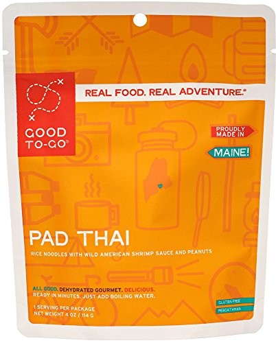 GOOD TO-GO Pad Thai - Single Serving | Dehydrated Backpacking and Camping Food | Lightweight | Easy to Prepare