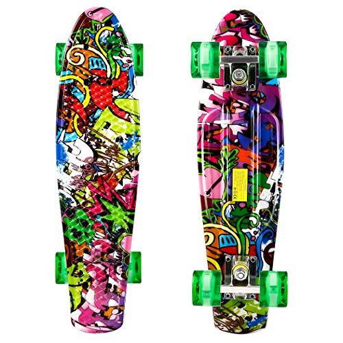 Hiriyt Mini Cruiser Skateboard Retro Komplettboard - 22