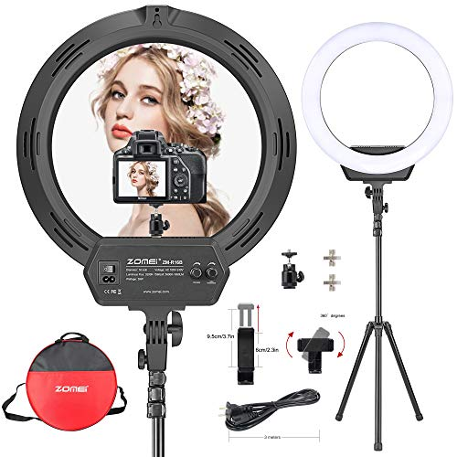 Ring Light 16 Inch 38W LED Ring Light Kit with Tripod Stand with Phone Holder Adjustable Color Temperature Circle Lighting for iPhone Camera for for Vlog, Makeup, YouTube, Video Shooting, Selfie