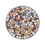 Decoración de jardinería de cerámica multicolor, bolas de cerámica de carbono, cultivo sin suelo plantas hidropónicas micro paisaje, cuentas de cerámica para jarrón Bonsai pecera acuario