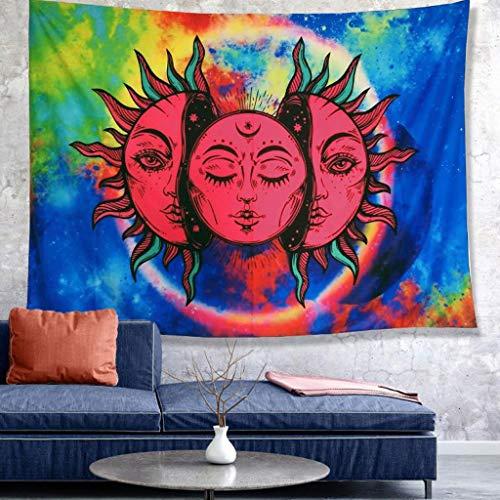 Tapiz de Pared Tapestries Colgar en la Pared de la tapicería, Almohada Beach Protector Solar Helios Mantón Moda de Tela impresión Digital Tapiz Mural (Color : H, Size : 130 * 150CM)