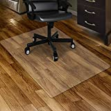 Kuyal Clear Chair mat for Hard Floors 30 x 48 inches Transparent Floor Mats Wood/Tile Protection Mat for Office & Home (30' X 48' Rectangle)