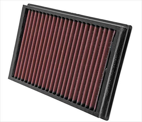 K&N 33-2877 Motorluftfilter: Hochleistung, Prämie, Abwaschbar, Ersatzfilter, Erhöhte Leistung, 2003-2007 C-Max, Focus, C30, S40 II, V50