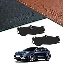 Custom Made Leather Edition Premium Dashboard Cover For Kia Niro 2016 2017 (leather Black)