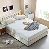 PLIENG <span class='highlight'>Extra</span> <span class='highlight'>Deep</span> Waterproof Breathable Terry Towel <span class='highlight'>Mattress</span> <span class='highlight'>Protector</span> Topper Cover Single, Double, King, Super King Clean And Healthy,White-152x203 46cm(60x80 <span class='highlight'>18</span>in)