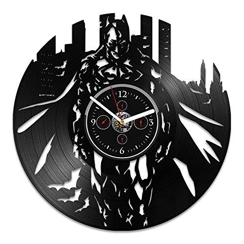 handmade Vinyl Wall Clock, Batman Record Clock, Batman Gift, DC Comics Clock, Vinyl Record Wall Clock, Wall Clock Large, Gift for Kids, Clock Batman, Birthday Gift, Gift for Man, Batman Wall Clock