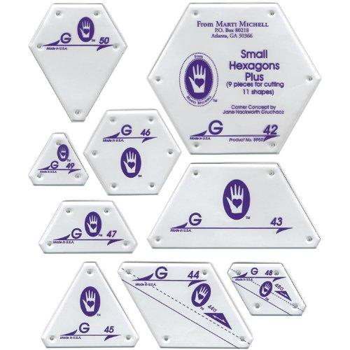 Perfect Patchwork Template-Set G - Small Hexagon Set 9/Pkg